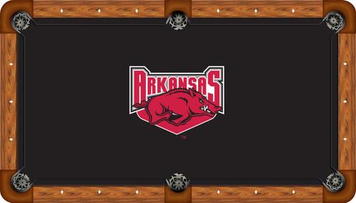 Arkansas Razorbacks 7 foot Custom Pool Table Felt