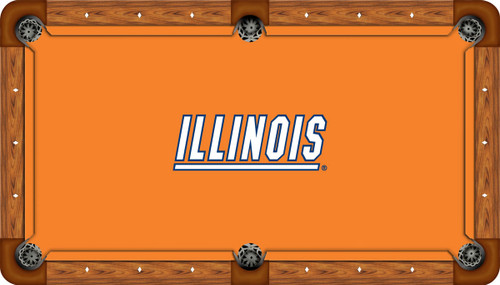 Illinois Fighting Illini 7 foot Custom Pool Table Felt