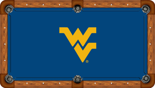 West Virginia Mountaineers 9 foot Custom Pool Table Felt