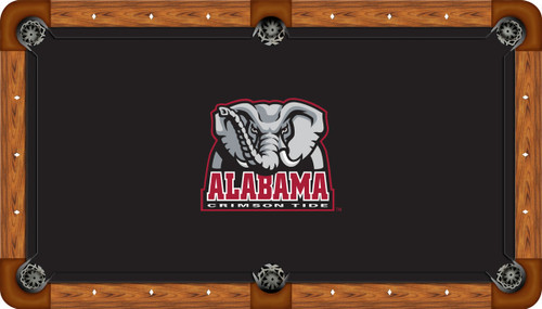 Alabama Crimson Tide 8 foot Custom Pool Table Felt