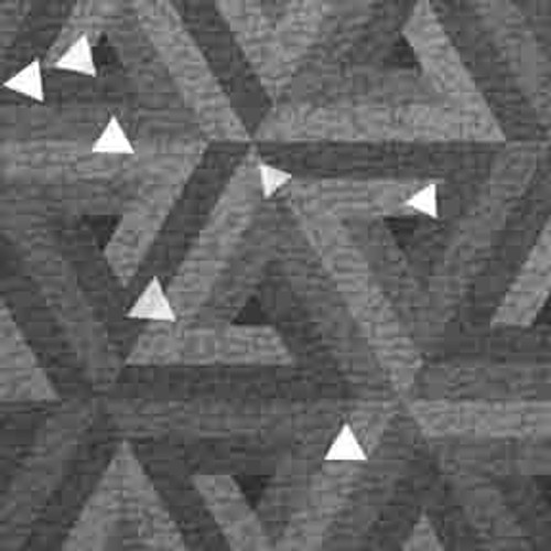 ArtScape Silver Triangles Pool Table Cloth