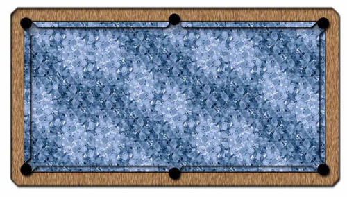 ArtScape 7' Ice Pool Table Cloth