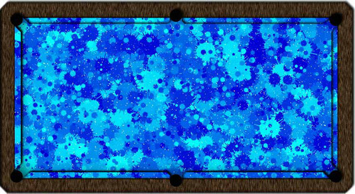 ArtScape Blue Burst Pool Table Cloth