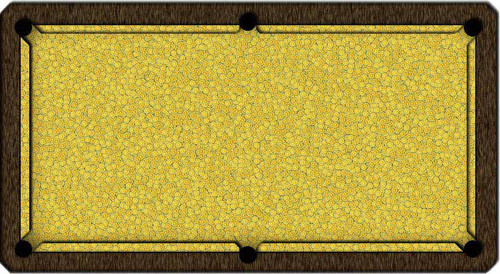 ArtScape Lemon Citrus Pool Table Cloth