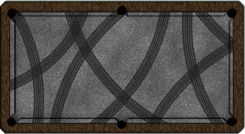 ArtScape Tire Tracks Pool Table Cloth