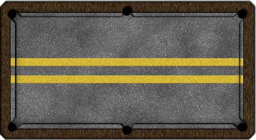 ArtScape Double Yellow Lines Pool Table Cloth
