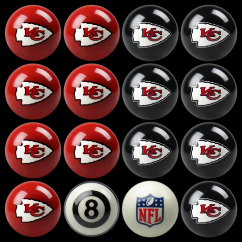 Kansas City Chiefs Pool Balls
