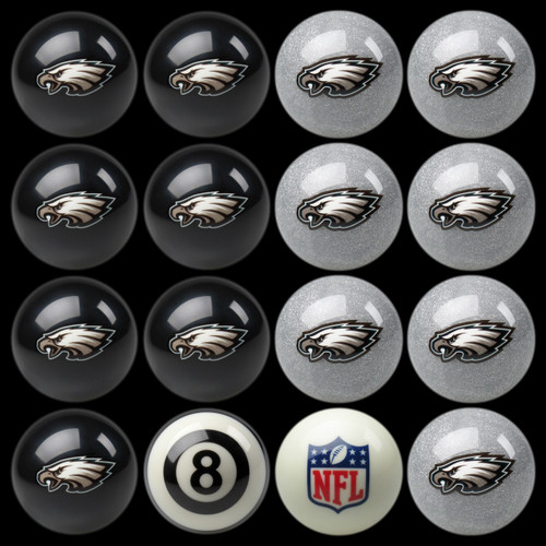 Philadelphia Eagles Pool Balls