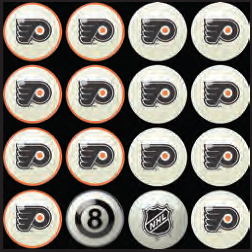 Philadelphia Flyers Pool Balls