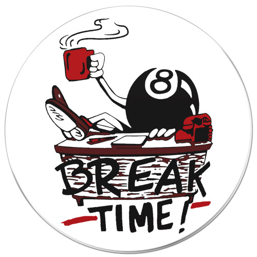 Break Time Drink Coaster
