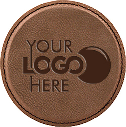 Leatherette Coaster Round - Dark