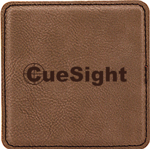 Leatherette Coaster Square - Dark