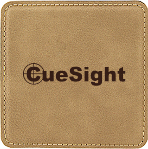 Leatherette Coaster Square - Light