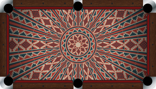 VIVID Ancient 9' Pool Table Felt