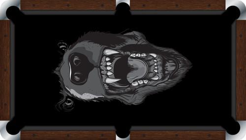 VIVID Black Bear 9' Pool Table Felt