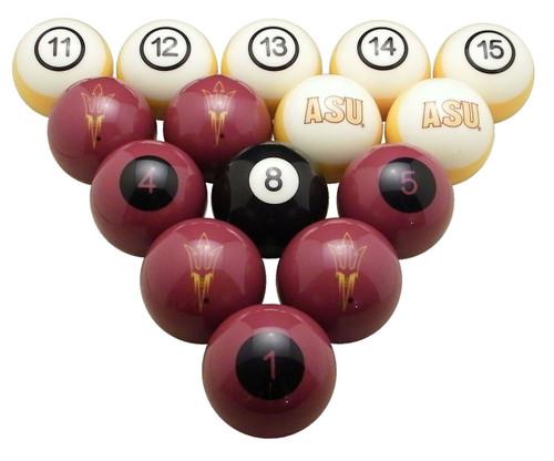 Arizona State Sun Devils Numbered Billiard Ball Set