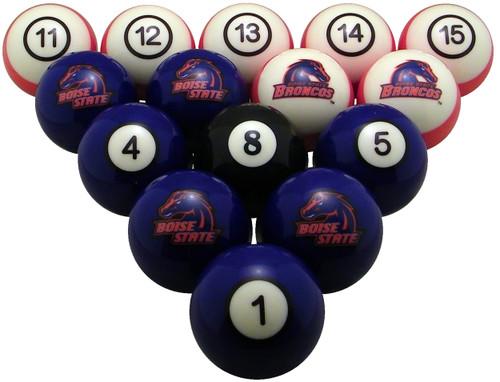 Boise State Broncos Numbered Billiard Ball Set