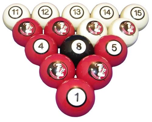Florida State Seminoles Numbered Billiard Ball Set