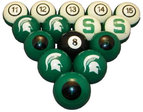 Michigan State Spartans Numbered Billiard Ball Set