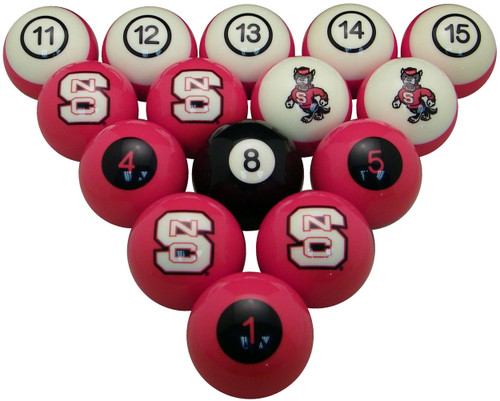 Gentil NC State Wolfpack Numbered Billiard Ball Set