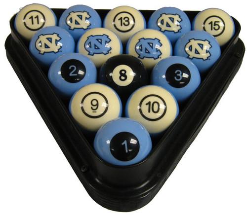 North Carolina Tar Heels Numbered Billiard Ball Set