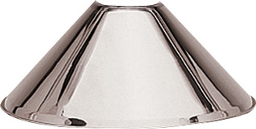 H.J. Scott Lamp Shade - Brushed Chrome