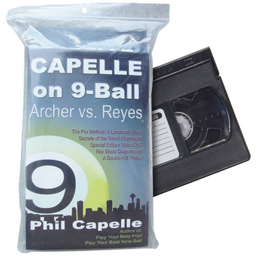 Capelle On 9-Ball: Archer vs Reyes, VHS and Book