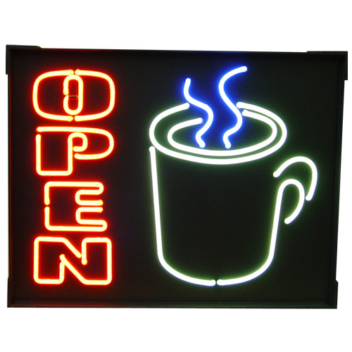 """""""Open"""" Mug Neon Sign"""