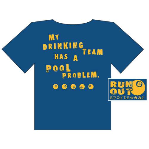 """Drinking Team"" T-Shirt, Blue"