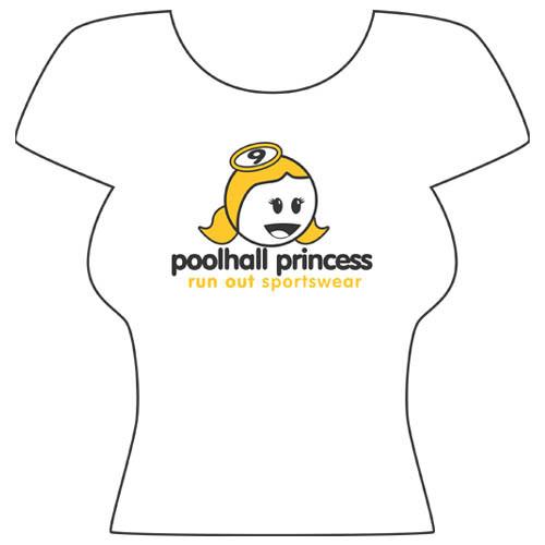 """""""Poolhall Princess"""" T-Shirt, White"""