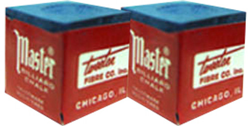 Masters Pool Cue Chalk, Blue 2-Pack
