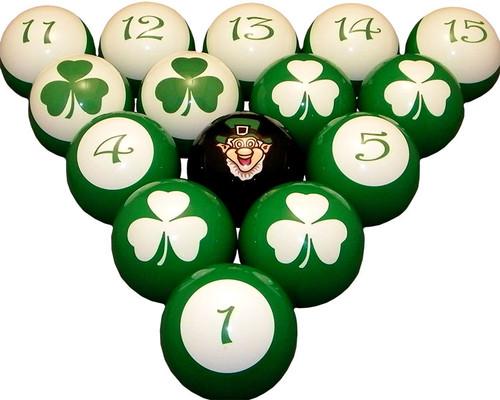 Lucky Irish Pool Ball Set