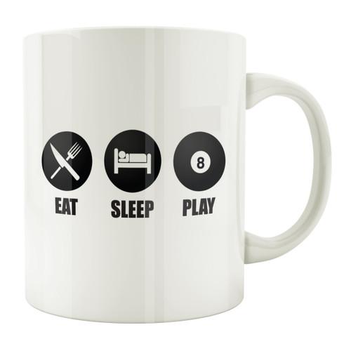 Eat Sleep Play 8-Ball 11oz. Coffee Mug