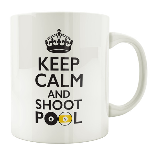 Keep Calm and Shoot Pool 11oz. Coffee Mug