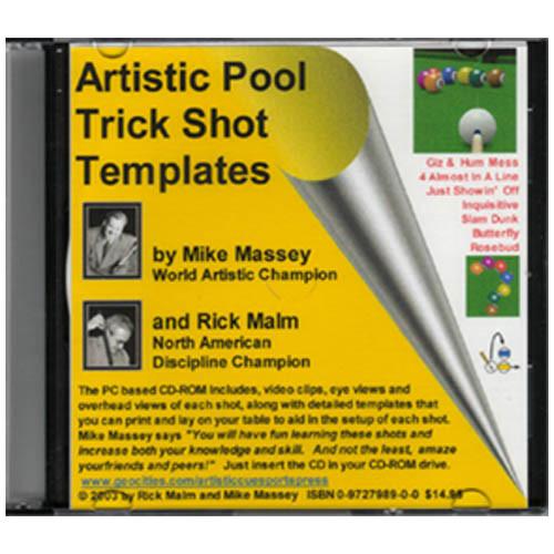 Artistic Pool Trick Shot Templates CD-ROM