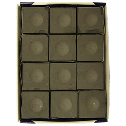 Silver Cup Chalk, Charcoal, 12-Piece Box