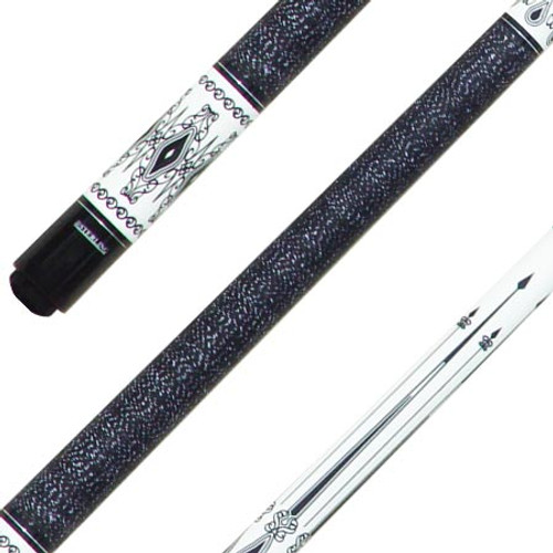 Sterling Black on White Pool Cue