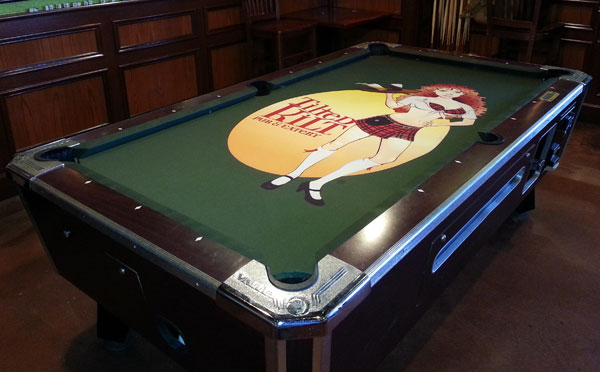 Custom Pool Table Felt Designs CueSightcom - Custom logo pool table felt