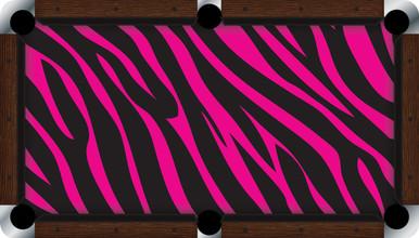Vivid Pink Zebra 7 8 Pool Table Felt Cuesight Com
