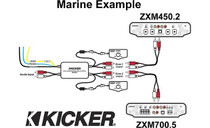 Kicker 10ZXMRLC Marine Dual-zone Level Control for a single audio source