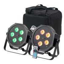 American DJ Mega 64 HEX Pak RGBWA+UV Par Can Package