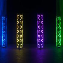 American DJ  Hex Par Pak 4 5P Hex LED Pars with 1 RF remote