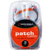 American DJ Accu-Cable RC-3 Dual RCA Cable (3')