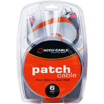 American DJ Accu-Cable RC-6 Dual RCA Cable (6')