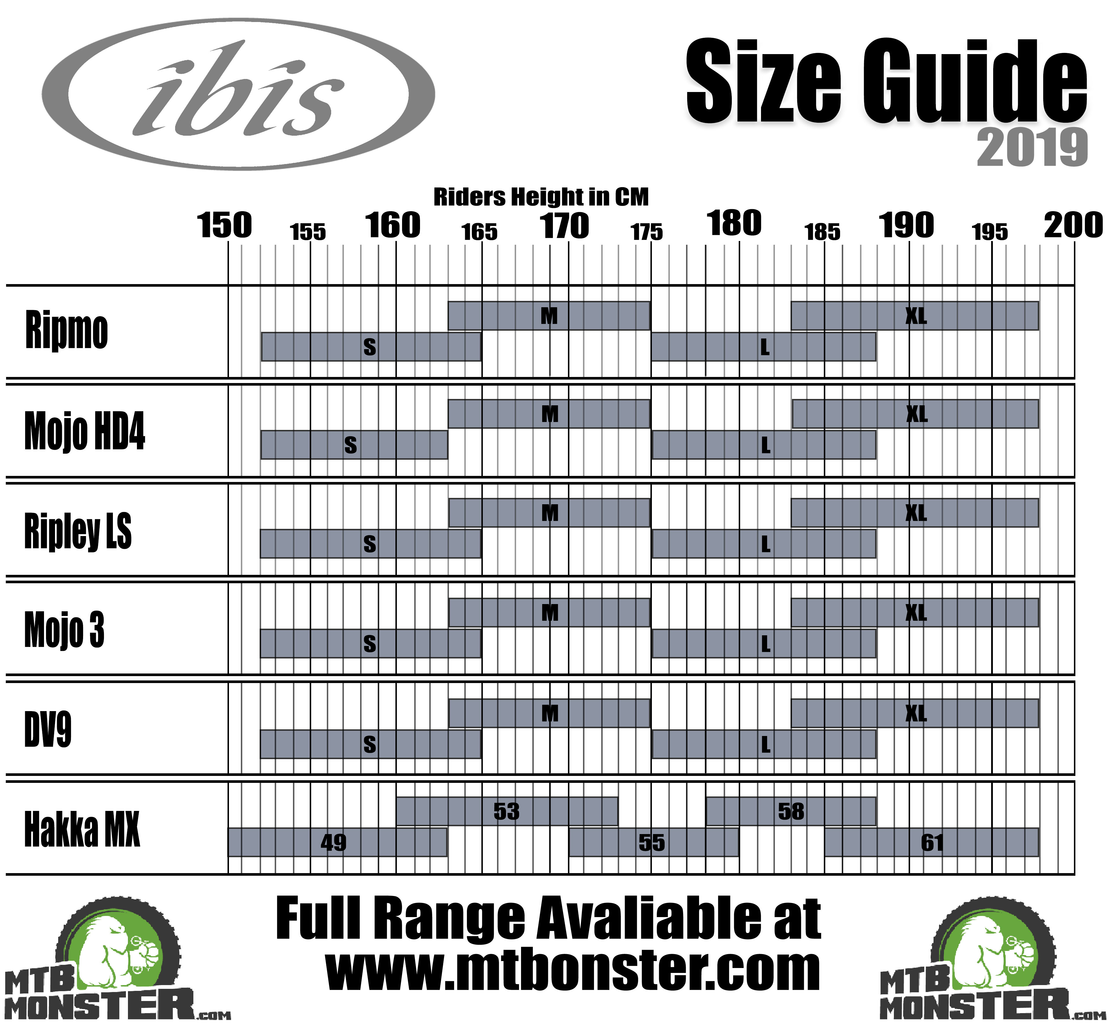 Ibis Bikes Size Guide   What size frame do I need?