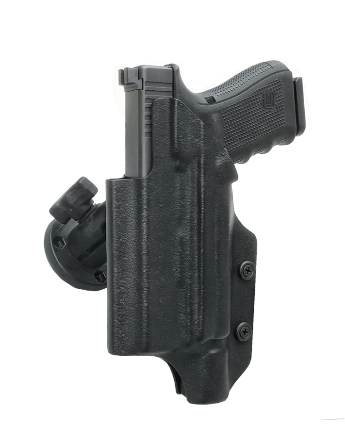 Light bearing RMR Cut RAM Mounted Dara Holster