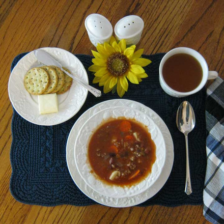 Hildy says, more than a burger! (VEGETABLE HAMBERGER SOUP)
