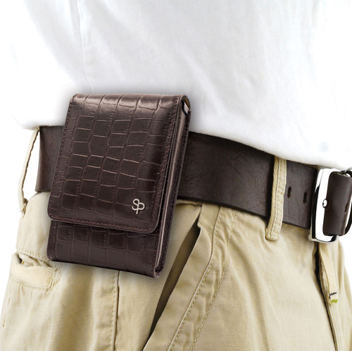 Double Tap Brown Alligator Holster