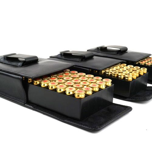 Ruger SR40c Leather Arsenal 50 Round Belt Case