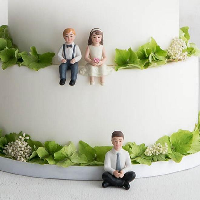 Child Wedding Cake Toppers - Blended Family